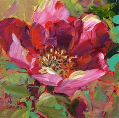 """Daily Paintworks - """"Wild Rose Bloom II"""" - Original Fine Art for Sale - © Melissa Gannon Oil Painting Flowers, Oil Painting Abstract, Diy Canvas Art, Texture Art, Fine Art Gallery, Painting Inspiration, Art Images, Flower Art, Cool Art"""