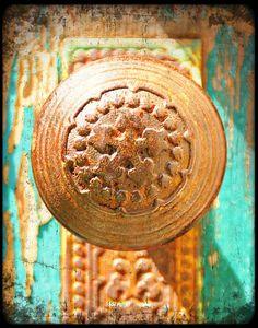 fine art print of rusted doorknob by senterstudios, selling on Etsy