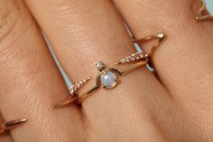 MICROPAVE OPEN SLICE AND NESTLED OPAL STACK SO BEAUTIFUL
