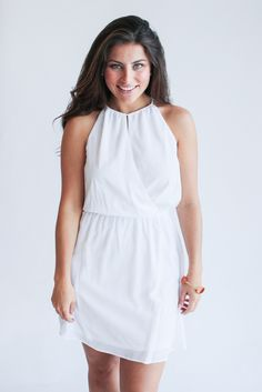 keyhole white dress – gallery. boutique