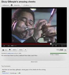 When Dizzy Gillespie showed off his survival tactics