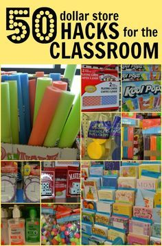 50 Dollar Store Hacks for the Classroom. Some of these are actually pretty good! Classroom Hacks, Classroom Organisation, Classroom Supplies, New Classroom, Teacher Organization, Teacher Tools, Teacher Hacks, Teacher Memes, Organizing