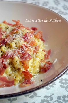 Risotto Carbonara, Salty Foods, Hawaiian Pizza, Paella, Macaroni And Cheese, Good Food, Sauces, Cooking, Ethnic Recipes