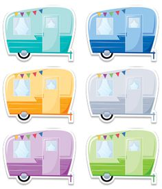 "The classic look of these Vintage Trailers 6"" designer cut-outs will surely bring the spirit of outdoor adventure to your classroom. These fun camping trailers are perfect for a classroom camping theme and for use in a variety of outdoors-related displays (nature, exploration, nature, etc.). They could even be used for your literature and poetry bulletin boards. Consider this quote from Robert Frost's poem, ""The Road Not Taken"""