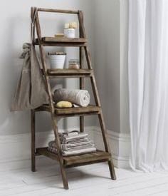 Rustic Ladder Shelf Unit