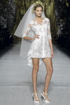 Pronovias Fashion Show 2014 Bridal Collections   First Love. Fun for the party!