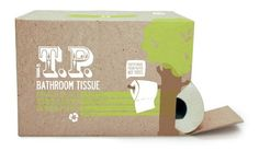 100% #recycled T.P.  Paper made from paper, not trees!