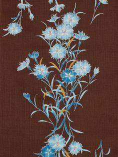 nadeshiko ground dark brown pattern / yukata
