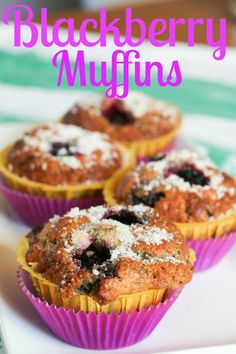 Blackberry Muffins~