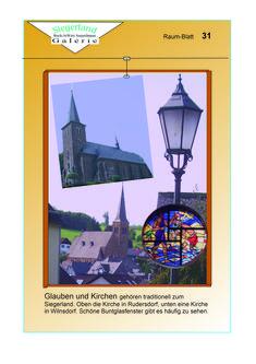 """Siegerland: Kirchen in Wilnsdorf und Walpersdorf sind im letzten Raum der """"Seejerlänner Galerie"""", Gebäude II, zu sehen. Insgesamt können auf 32 Seiten 31 Räume mit zahlreichen Bildern """"durchforstet"""" werden. In Kürze im Netz."""