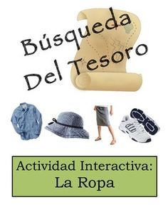 Review in shopping unit? Spanish Classroom Scavenger Hunt Activity: Clothing Vocabulary