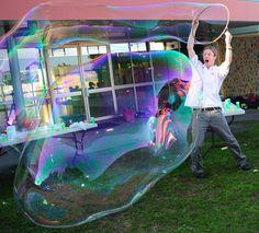 beeboo Big Bubble Mix makes it easy to blow big bubbles