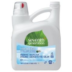 Seventh Generation Laundry Detergent - Concentrate Liquid - gal fl oz) - Free & Clear Scent - 4 / Carton - Clear Seventh Generation Laundry Detergent, Natural Laundry Detergent, Natural Cleaning Products, Biodegradable Products, Cleaning Supplies, Cleaning Hacks, Stains, Fragrances, Challenges