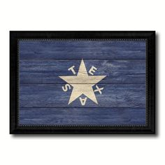 Texas History Lorenzo De Zavala Military Flag Texture Canvas Print Black Picture Frame Gift Ideas Home Decor Wall Art