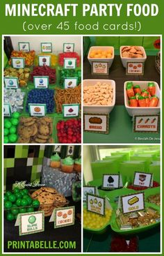 Image result for free printable minecraft food tent cards