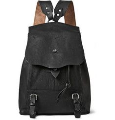 Bill AmbergHunter Grained-Leather Backpack