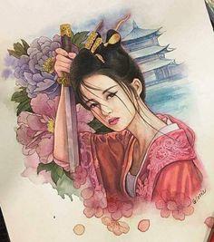 ❥●❥ ♥ ❤ ♥ ❥●❥ Japanese Geisha Tattoo, Japanese Tattoo Designs, Japanese Art, Geisha Drawing, Geisha Art, Female Samurai Tattoo, Watercolor Illustration, Watercolor Art, Geisha Tattoo Design