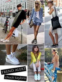 in the bay: Trend Alert :: Chuck Taylors Outfits For Teens, Trendy Outfits, School Outfits, Winter Fashion Outfits, Summer Outfits, Outfits With Converse, Converse Style, Hipster Shirts, Plus Size Blouses
