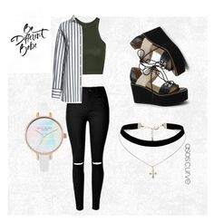 """""""Paint Your Look With Canvas by Lands' End: Contest Entry"""" by kawaiihorror ❤ liked on Polyvore featuring Lands' End, Topshop, Canvas by Lands' End and ASOS Curve"""