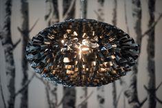 "Birch & Beauty: the Kennebecasis House - a ""Before & After"" residential makeover. Copenhagen, Birch, Chandelier, Ceiling Lights, Interiors, Steel, Interior Design, Studio, Creative"