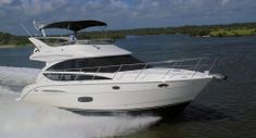 Meridian Yachts 391 Sedan: We tested the Meridian 391 with a pair of Cummins QSB 6.7L 380-hp engines with V-drives.