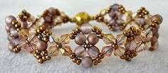 Linda's Crafty Inspirations: Bracelet of the Day: Craving Crystal - Apollo Gold