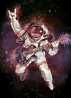Rock N Roll...so pure it can travel through space! #Music #RocknRoll #Art #Prints #Poster