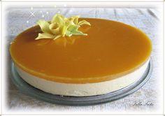 VillaTuta : HYYDYTETTY PERSIKKA-TUOREJUUSTOKAKKU Cheesecake, Pudding, Baking, Desserts, Food, Tailgate Desserts, Deserts, Cheesecakes, Custard Pudding