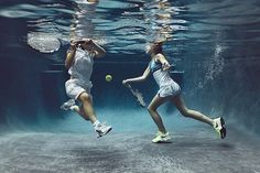 Portraits of Kids Submerged Underwater