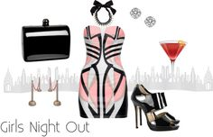 """Girls Night Out"" by brittinyfromfashionofphilly on Polyvore"