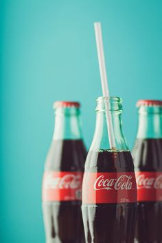 "Nothing beats a refreshing bottle of Coca-Cola on a hot day! I always get the ""south of the border"" coke that is made with real sugar and not high fructose corn syrup. It tastes so much better and I feel less guilty about drinking one every now and then! ;-)"