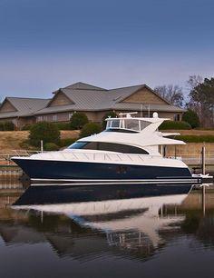 #Hatteras 60 Motor #Yacht in New Bern, NC.