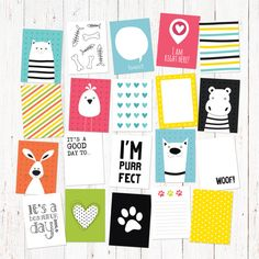 20 cartoon animal theme creative journaling and by GraphicCorner