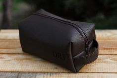 Leather Personalized Dopp Kit, Mens Toiletry Bag, Mens Wash Bag, Mens Cosmetic…