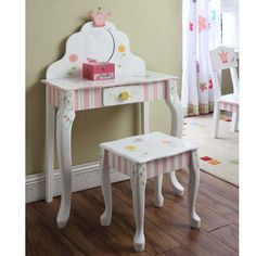 Princess Girls Vanity Set | Girls Vanity Table Set | Quilts Just 4 Kids