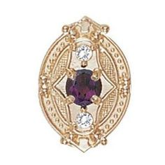 14k-Gold-Victorian-Bracelet-Slide-with-Amethyst-center-and-Diamond-accents-GS449