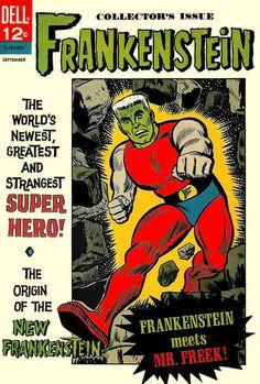 """Dell's """"superhero"""" Frankenstein comic, 1966"""