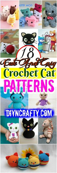 you are good at crocheting then here is a big list of free crochet cat patterns for you!