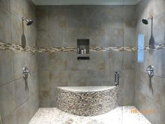 Special Bathroom with Double Shower and Traditional Look