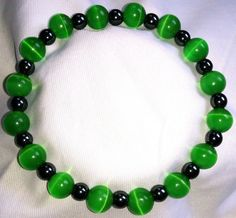 Mexikanische Grüne Opal Hämatit Heilstein Perlen Armband