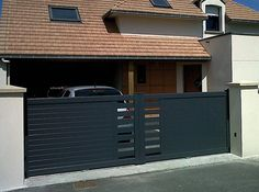 modern house gates and fences designs google search. Black Bedroom Furniture Sets. Home Design Ideas