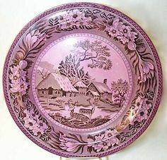 Wedgwood Mulberry Lustre Fallow Deer Plate