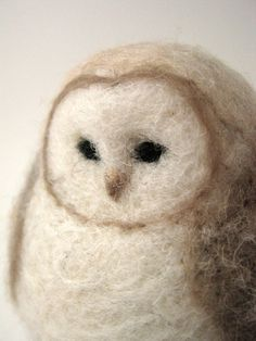 Needle Felted Owl from Woolnimals