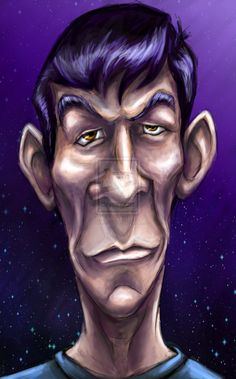 Leonard Nimoy Digital Caricature by SarahMiele.deviantart.com on @deviantART