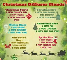 Young Living Essential Oils Holiday Christmas Diffuser Blends Recipes www.youngliving.org/ambermoore