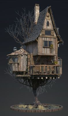 Best 11 ArtStation – Baba Yaga's House, Cyril Chevtchouk Baba Yaga House, Fairytale House, Medieval Houses, Fairy Garden Houses, Fairies Garden, Fantasy House, Witch House, Miniature Houses, Model Homes