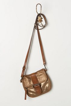 Anthropologie Bronzed Mini-Satchel