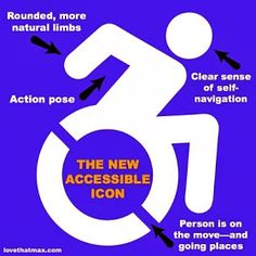 I have a feeling my industry is gonna change from wedding design to advocating for inclusiveness.  Love That Max: Special Needs Blog : The wheelchair icon gets a makeover and museum fame