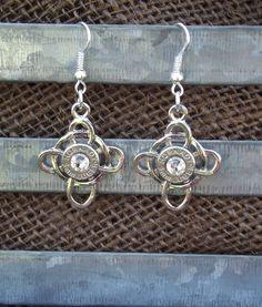 Items similar to Bullet Casing Jewelry - Celtic Cross Dangle Bullet Earrings (Nickel Free) on Etsy Shotgun Shell Jewelry, Ammo Jewelry, Bullet Jewelry, Brass Jewelry, Gothic Jewelry, Jewelry Crafts, Cowgirl Jewelry, Jewelry Necklaces, Diy Jewelry Inspiration