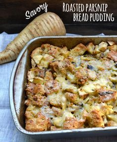 Though bread pudding is typically a dessert, we love this savory take ...